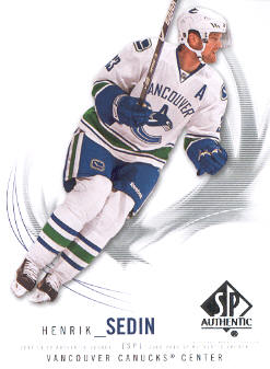 2009-10 SP Authentic #99 Henrik Sedin