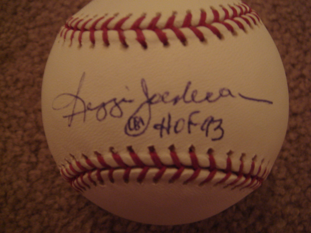 Reggie Jackson Autographed Official MLB Baseball With HOF 93 Ins. With Steiner COA