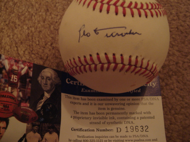 Leo Durocher Autographed Official NL Baseball With PSA COA