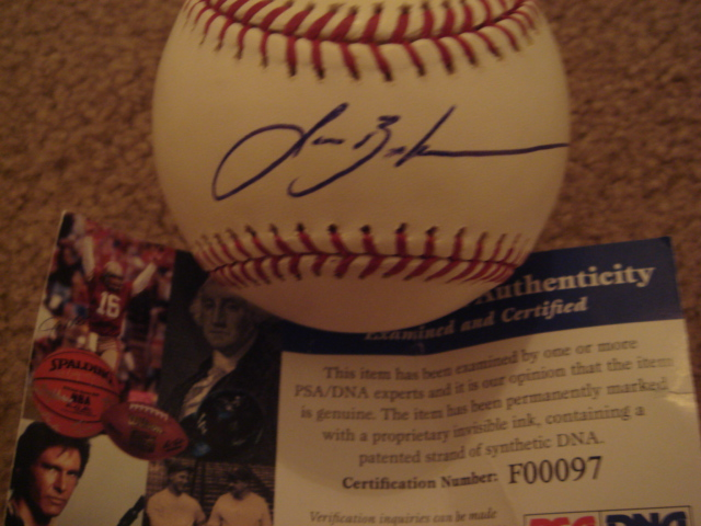 Lance Berkman Autographed Official MLB Baseball With PSA COA