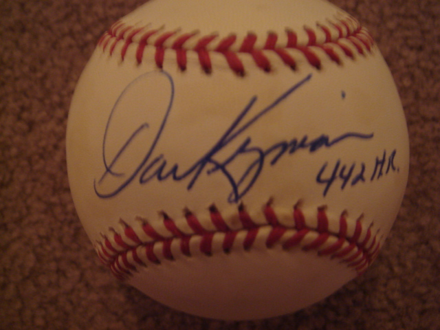 Dave Kingman Autographed Official NL Baseball With 442 HR Ins. With COA