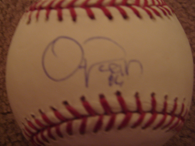 Oliver Perez Autographed Official MLB Baseball With Steiner COA