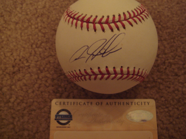 Aaron Heilman Autographed MLB Baseball With Steiner COA