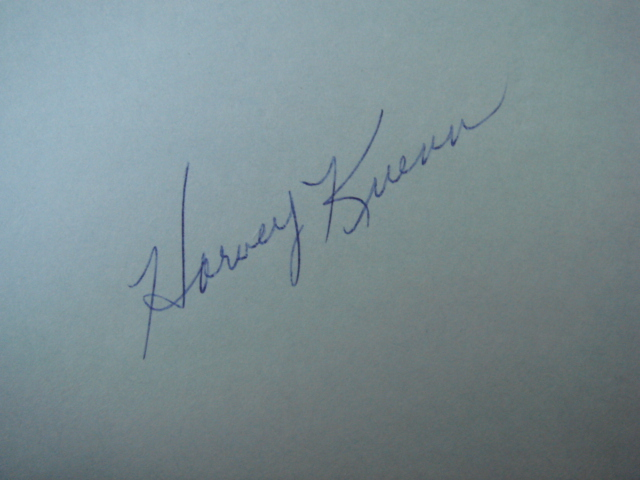 Harvey Kuenn Autographed 3 X 5 Card With COA