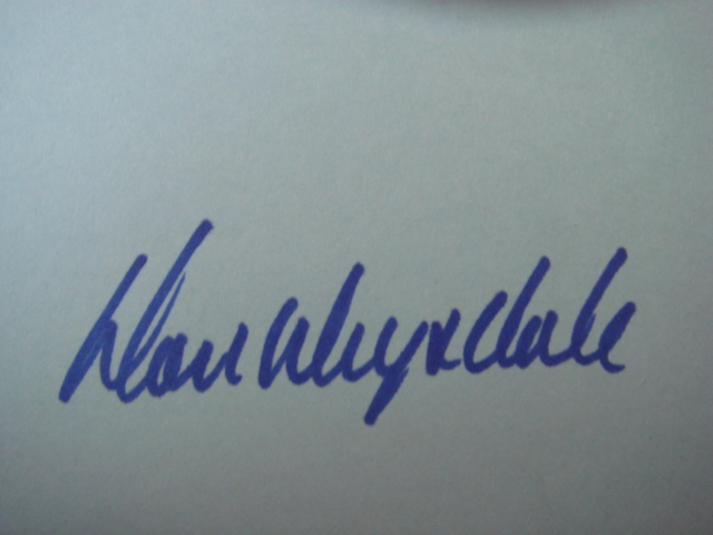 Don Drysdale Autographed 3 X 5 Card With COA