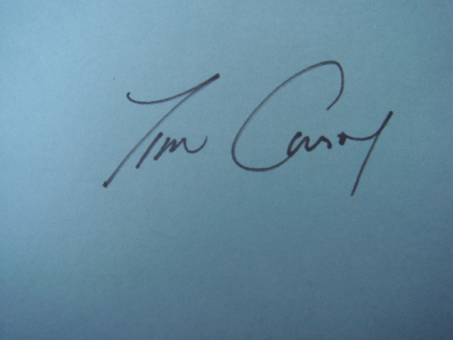 Tim Conroy Autographed 3 X 5 Card With COA