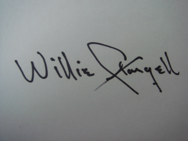 Willie Stargell Autographed 3 X 5 Card With COA