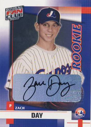 2002 Donruss Fan Club Autographs #224 Zach Day/200