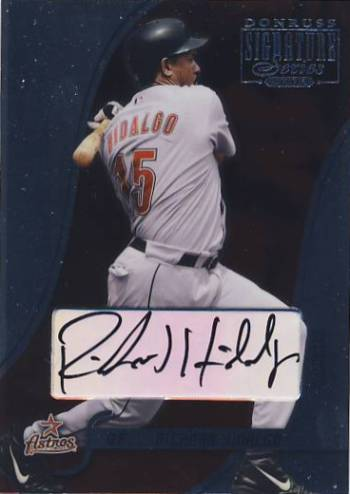 2003 Donruss Signature Autographs #39 Richard Hidalgo