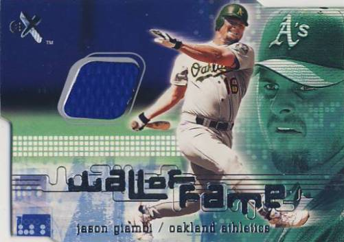 2001 E-X Wall of Fame #6 Jason Giambi