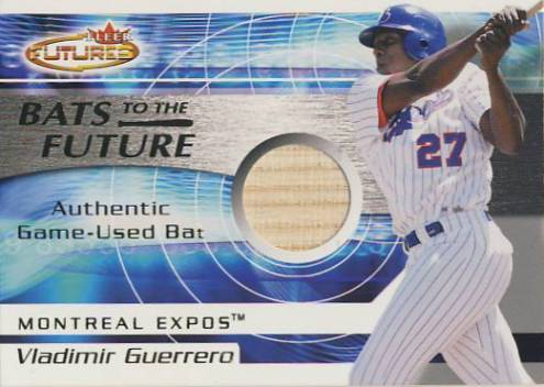 2001 Fleer Futures Bats to the Future Game Bat #7 Vladimir Guerrero