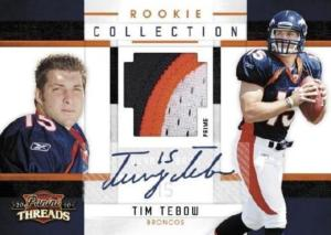 2010 Panini ( Donruss ) Threads Football Factory Sealed HOBBY Box - 4 Autograph Or Memorabilia Cards & 6 Rookies & 14 Inserts Per Box - Possible Sam Bradford Tim Tebow + An Aaron Rodgers - In Stock
