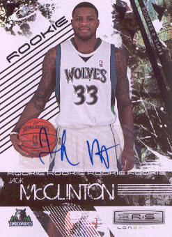 2009-10 Rookies and Stars Longevity Signatures #124 Jack McClinton/474