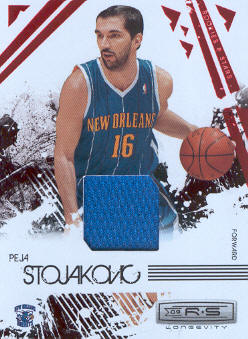 2009-10 Rookies and Stars Longevity Materials Ruby #62 Peja Stojakovic/250
