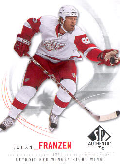 2009-10 SP Authentic #50 Johan Franzen