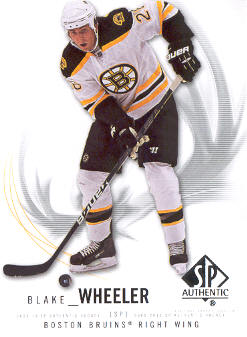 2009-10 SP Authentic #71 Blake Wheeler