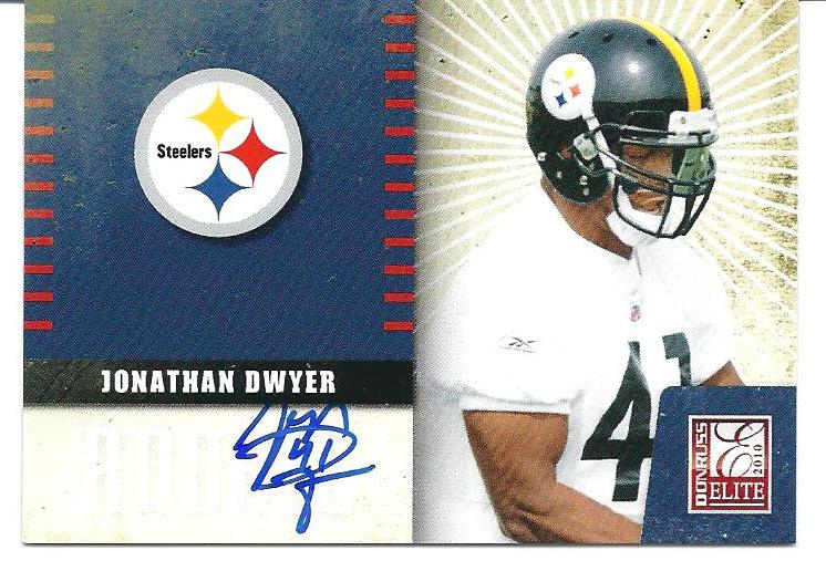 2010 Donruss Elite Rookie NFL Team Logo Autographs #21 Jonathan Dwyer