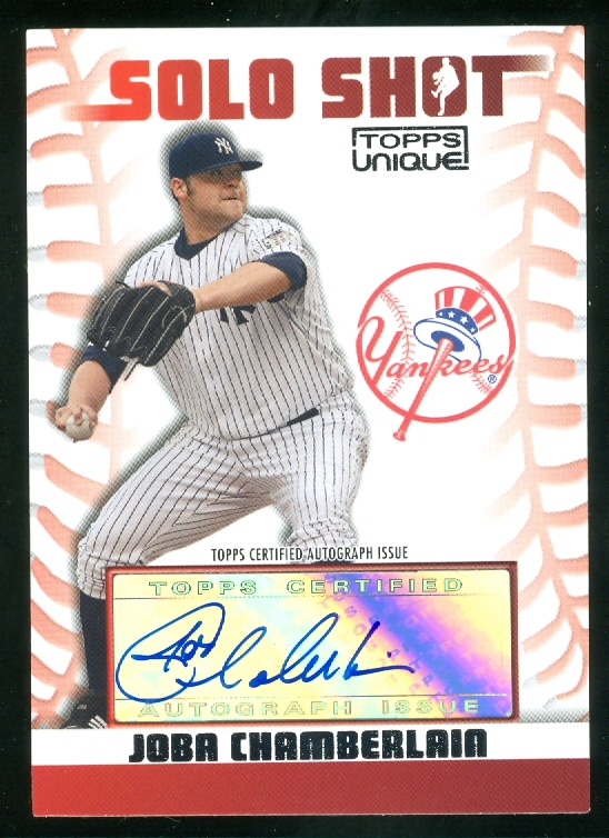 2009 Topps Unique Solo Shots Autographs #JCH Joba Chamberlain