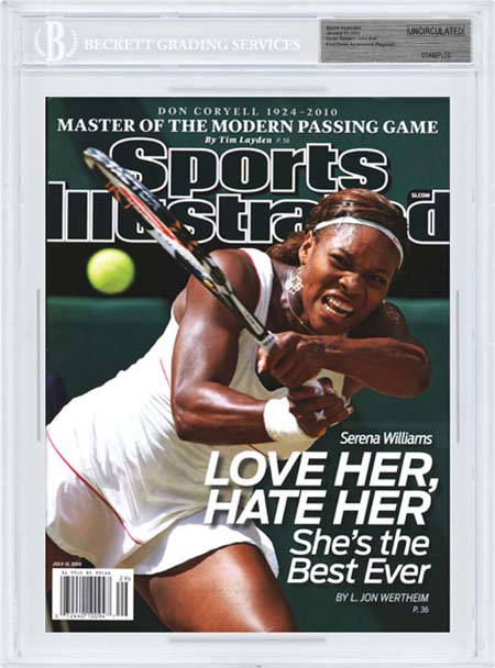 SPORTS ILLUSTRATED BGS SI Uncirculated SERENA WILLIAMS front image