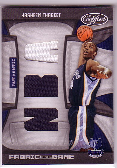 2009-10 Certified Fabric of the Game NBA Die Cuts #172 Hasheem Thabeet/50