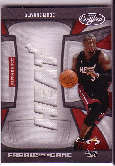 2009-10 Certified Fabric of the Game Team Die Cuts #136 Dwyane Wade/25