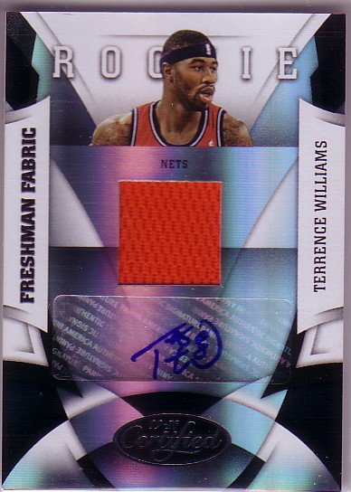 2009-10 Certified #179 Terrence Williams JSY AU RC