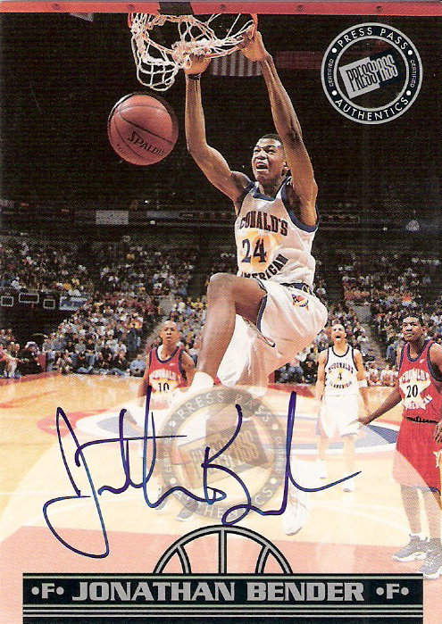 1999 Press Pass Autographs #5 Jonathan Bender