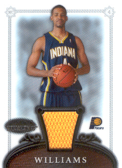 2006-07 Bowman Sterling #59 Shawne Williams JSY RC