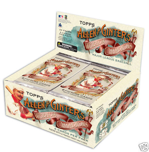 2009 Topps Allen & Ginter Retail Baseball Unopened Box (24 Packs)