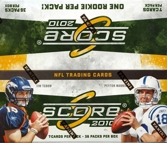 2010 Score Football Unopened Box (36 Packs)