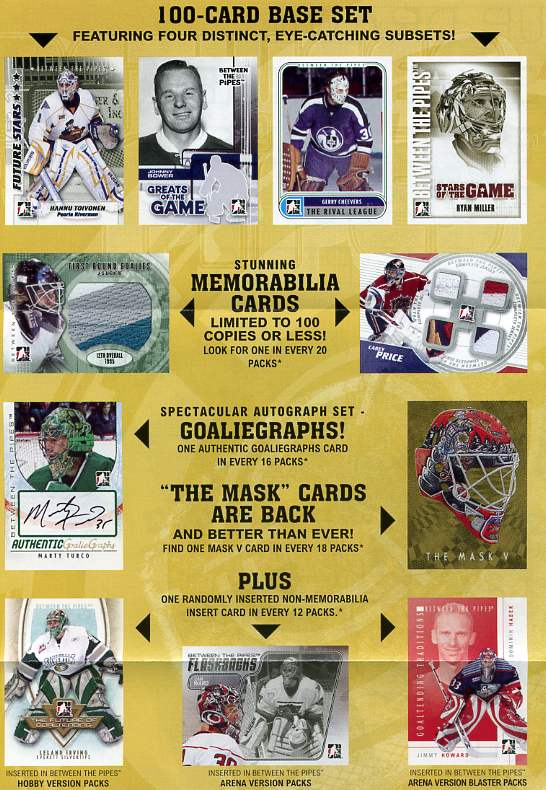2007 - 08 ( 2008 ) In The Game ITG Between the Pipes Hockey Factory Sealed Hobby Box With 1 Autograph, 1 Memorabilia Card & 1 Mask Card Per Box - In Stock Now