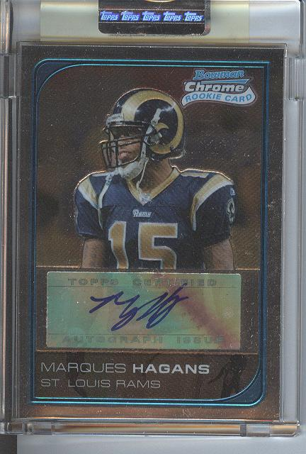 2006 Bowman Chrome Rookie Autographs Uncirculated #244 Marques Hagans