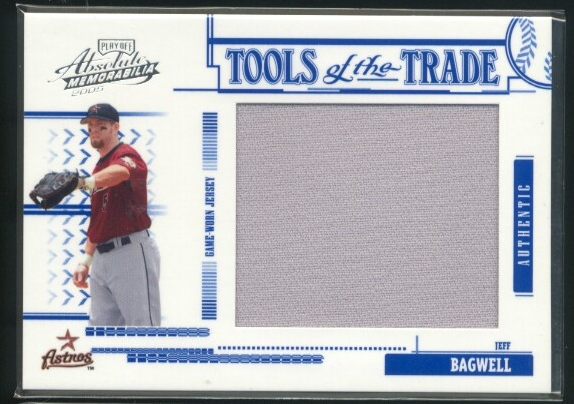 2005 Absolute Memorabilia Tools of the Trade Swatch Single Jumbo #130 Jeff Bagwell Pants/250