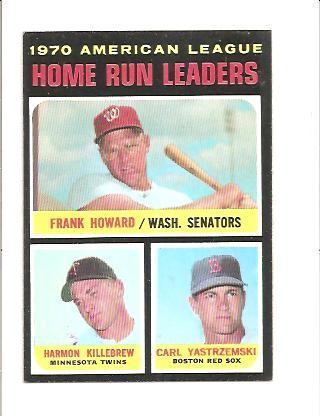 1971 Topps #65 AL Home Run Leaders/Frank Howard/Harmon Killebrew/Carl Yastrzemski