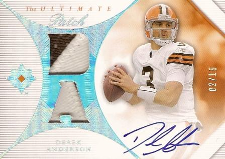 2008 Ultimate Collection Ultimate Patch Autographs #UPDA Derek Anderson/15