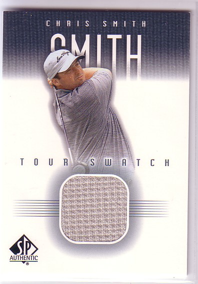 2001 SP Authentic Tour Swatch #CSMTS Chris Smith