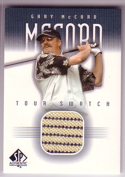 2001 SP Authentic Tour Swatch #GMTS Gary McCord SP *