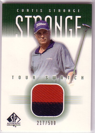2001 SP Authentic Tour Swatch 500 #CSTS Curtis Strange