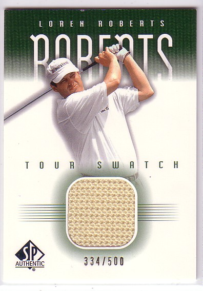 2001 SP Authentic Tour Swatch 500 #LRTS Loren Roberts
