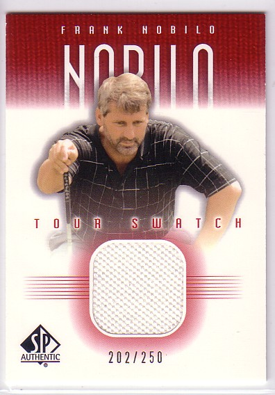 2001 SP Authentic Tour Swatch 250 #FNTS Frank Nobilo