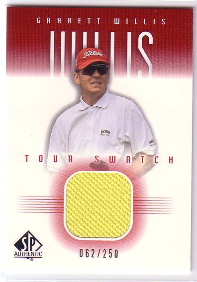 2001 SP Authentic Tour Swatch 250 #GWTS Garrett Willis