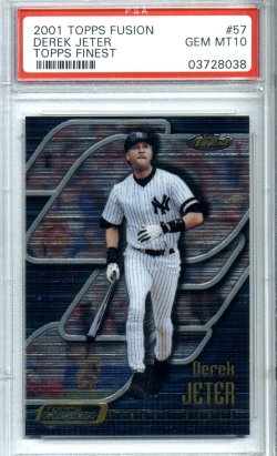 2001 Topps Fusion #57 Derek Jeter PSA Gem Mint 10 Topps Finest Awesome! New York Yankees!
