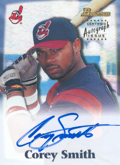 2000 Bowman Draft Autographs #BDPA21 Corey Smith
