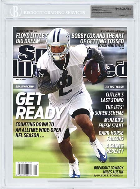 SPORTS ILLUSTRATED BGS SI Uncirculated MILES AUSTIN DALLAS COWBOYS front image