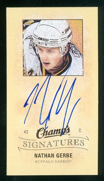 2009-10 Upper Deck Champ's Signatures #CSNG Nathan Gerbe