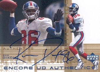 2000 Upper Deck Encore UD Authentics #DX Ron Dixon