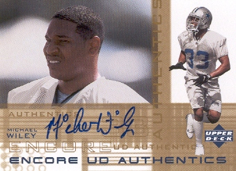 2000 Upper Deck Encore UD Authentics #MW Michael Wiley