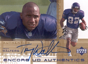 2000 Upper Deck Encore UD Authentics #TW Troy Walters