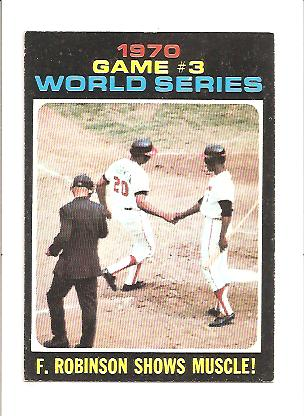 1971 Topps #329 World Series Game 3/Frank Robinson