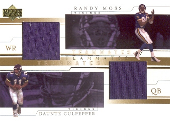 2001 Upper Deck Teammates Jerseys #CMT Daunte Culpepper/Randy Moss